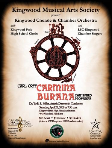 Kingwood Carmina Burana poster